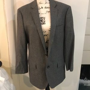 J crew gray Ludlow two button suit 42r hemmed